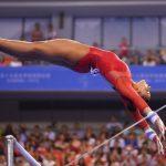 gymnast rebecca downie on bars