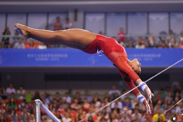gymnast rebecca downie on bars